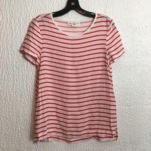 H&M L.o.g.g. Red & White Striped Tee 04